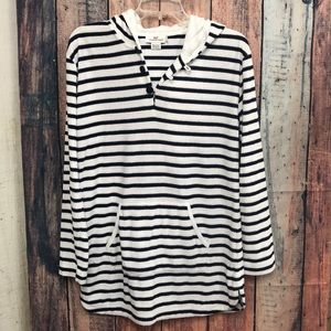 VINEYARD VINES STRIPED TERRY PULLOVER S